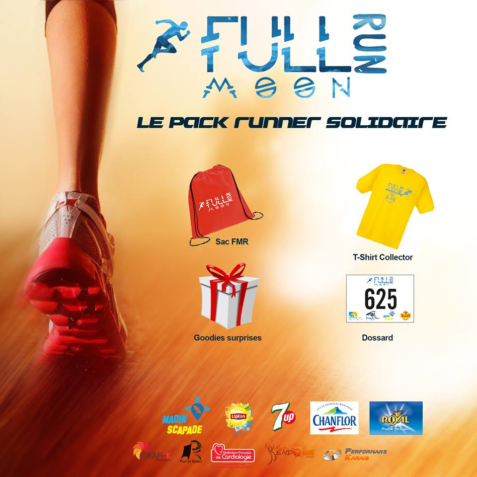 Pack Runner Solidaire Full Moon Run Martinique