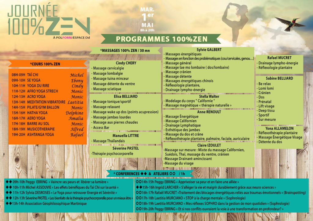 Programme journée 100% Zen