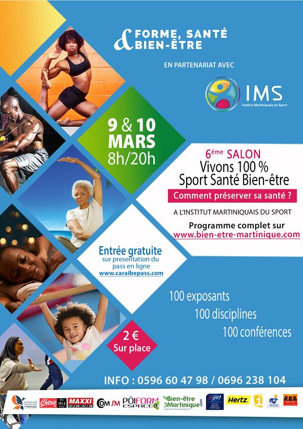 Affiche Salon vivons 100% sport santé bien-être