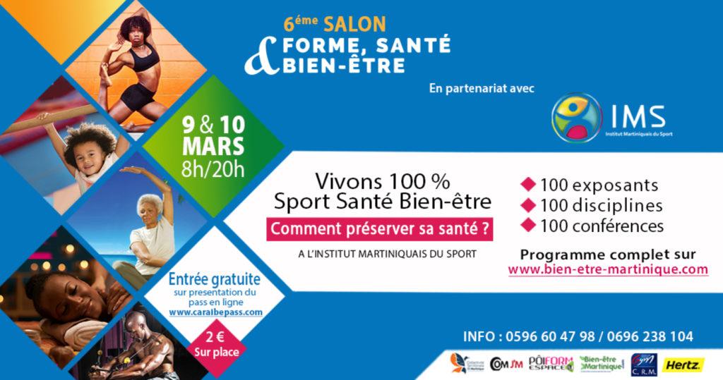 Flyer salon 2019 vivons 100% sport santé Martinique
