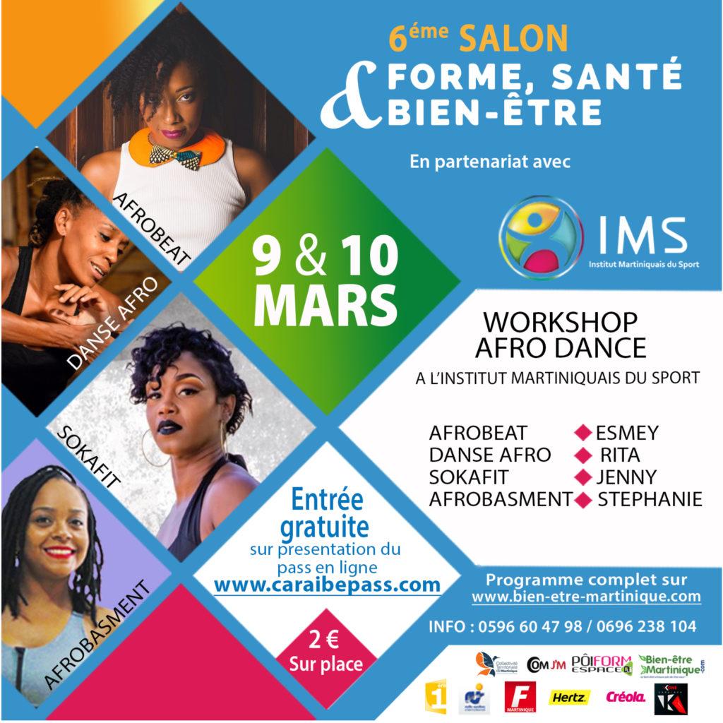 Workshop afro dance salon vivons 100% sport santé bien-être